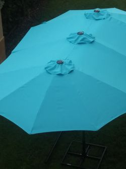 Brand new 15 ft patio furniture backyard poolside sunshade tent umbrella for Sale in North Miami Beach,  FL