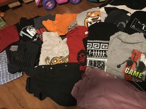 Boys teenage clothes slim sizes 28-32 pants small medium and large shirts for Sale in Los Angeles, CA