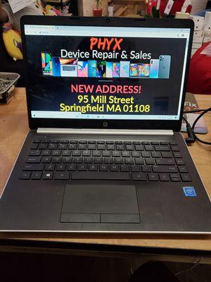 """14"""" HP 14-dk0002dx Laptop, 12GB RAM, 128GB SSD, 3.10 AMD A9, WIN 10 + Office $360 for Sale in Springfield, MA"""