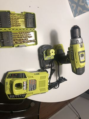 Ryobi one+ power tool +battery and charger and dockit drill for Sale in Santa Monica, CA