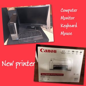 Complete computer with new printer for Sale in Diamond, OH