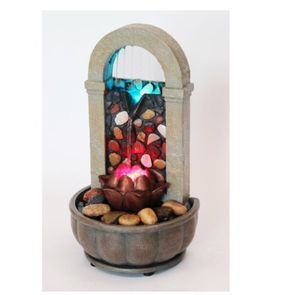 Led rock wall office tabletop fountain for Sale in Omaha, NE