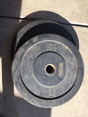 25 lbs rubber weight lifting plates for Sale in Jurupa Valley, CA
