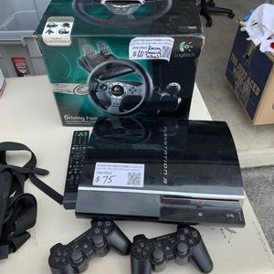 PS3 and Logitech Driving Force (wheel and pedals) for Sale in Edgewood, WA