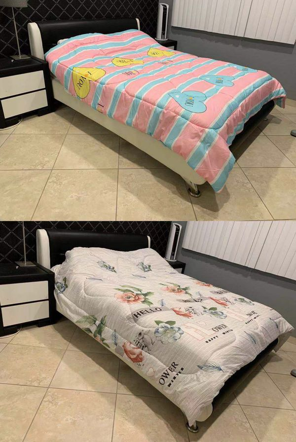 Brand new $15 each queen size 96x89 inches comforter cotton plush warm blanket