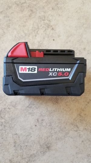 New Milwaukee 18-Volt Lithium-Ion XC Extended Capacity 5.0Ah Battery for Sale in Hemet, CA
