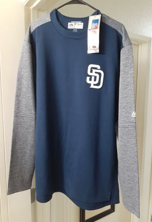 Men's San Diego Padres Majestic Authentic On-Field Tech Fleece Therma Base Pullover Sweatshirt for Sale in Chula Vista, CA