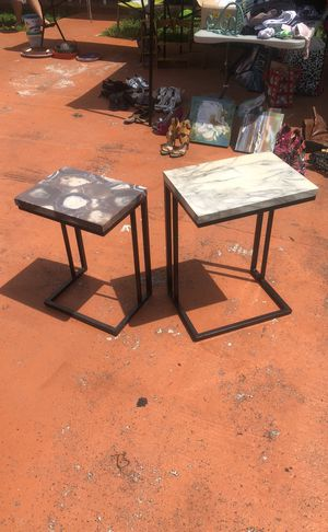 Two marble end tables for Sale in Hialeah, FL