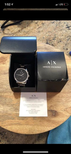 Men's Black Face Armani Exchange Watch for Sale in Fort Lauderdale, FL