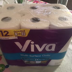 Viva Multi- Surface Cloth, Paper Towels Choose-A-Sheet 6 Double Rolls (110 Sheets Per Roll) for Sale in Waldorf, MD