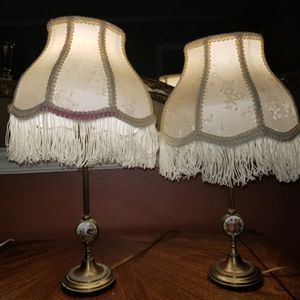 Antique brass and limoge porcelain lamps for Sale in Miami, FL