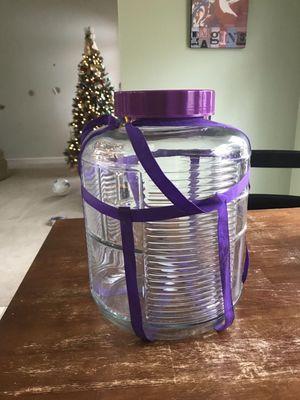 5 gallon glass brewing jar, fermentor, bubbler for kombucha, kimchee, etc for Sale in Hendersonville, TN
