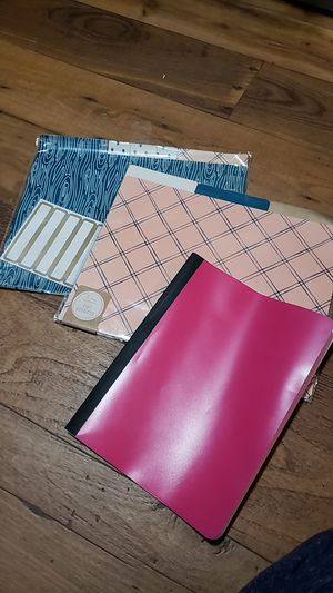 Notebook and file folders for Sale in Houston, TX