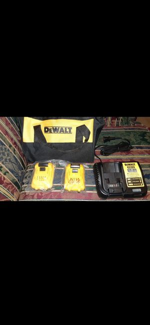 2 Dewalt 12 volt batteries and charger for Sale in Tacoma, WA