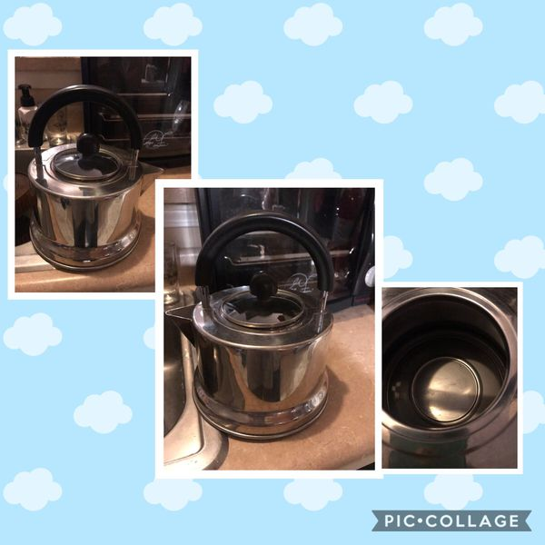Large Stainless Steel Stove Top Hot Water Kettle w/Glass Top and Curved Handle $8. Walgreens Oakland Canada rd wolfchase Kirby whitten and stage on