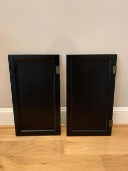 2 Wood Cabinet Doors 24 inches x 13 5/8 inches for Sale in Apex,  NC
