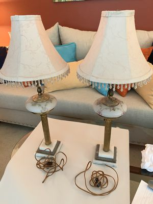 Pair of antique lamps for Sale in Canonsburg, PA