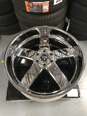 "Brand New 24"" Inch Dub Big Baller 24X10 Chrome Wheels Rims Rines Aros 6X5.5 6X139.7 for Sale in Austin, TX"