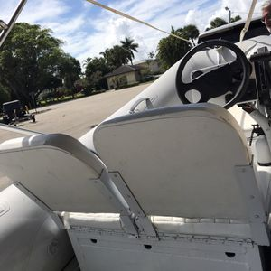 12' inflatable, aluminum hull dinghy, can seat up to 6 people, 40hp motor with steering wheel, trailer also included! for Sale in Boca Raton, FL