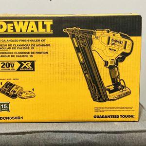 Dewalt 20v XR 15g Finish Nailer Kit for Sale in Bensalem, PA
