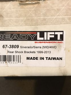 Readylift Rear Shock Brackets for Sale in Peabody,  MA