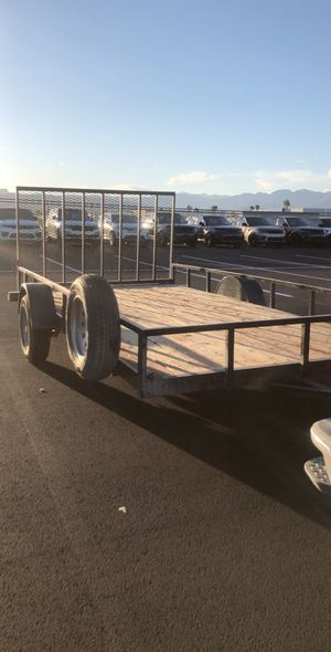 2015 14' UTILITY TRAILER USED FOR SXS for Sale in Las Vegas, NV
