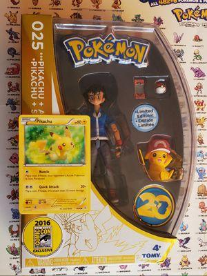 Pokemon 20th Anniversary Pikachu & Ash Figure Limited Edition Comicon Exclusive for Sale in Las Vegas, NV