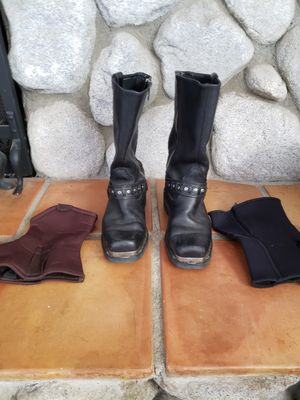 Men's HARLEY DAVIDSON motorcycle boots. Size 8 for Sale in Rancho Cucamonga, CA