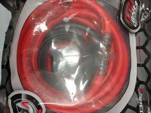 Car amplifier installation kit : 1/ 0 age wire kit 20 ft red CCA power, speaker wire rca jack. 12 feet 12 gauge speaker wire mini ANL 150a fuse holder for Sale in Bell Gardens, CA