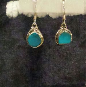 Arizona Sleeping Beauty Turquoise Earrings in Sterling Silver for Sale in Lawrenceville, GA