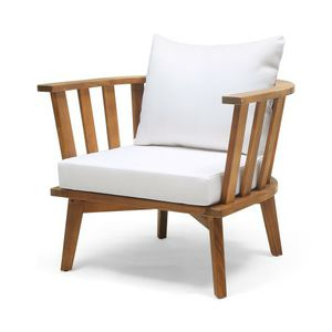 Solano Acacia Wood Club Chair Teak/ White - Christopher Knight Home for Sale in Plano, TX
