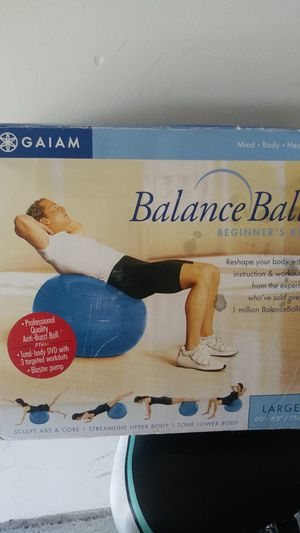 Large balance ball workout for Sale in Lake Elsinore, CA