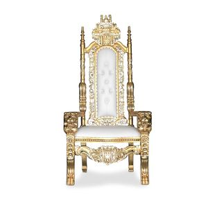"Free nationwide delivery | Gold white king queen throne 70"" chairs royal baroque wedding event party photography hotel lounge boutique furniture for Sale in Detroit, MI"