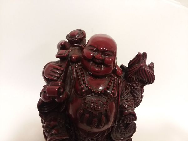 Vintage Happy Buddha with Dragon