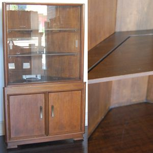Vintage Wooden Corner Hutch Cabinet for Sale in Seattle, WA
