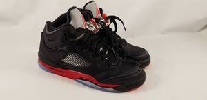 2018 Nike Air Jordan 5 Retro GS SZ 4.5Y Satin Bred Black Fire Red OG 440888-006 for Sale in Marysville, WA