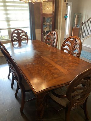 11 Pc. Dining table w/Credenza West Indies style- American Signature for Sale in Perry, GA