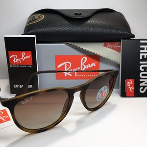Ray Ban Erica Tortoise Frame / Brown Gradient Polarized RB4171 865/T5 54mm 18mm 145mm Sunglasses Eyewear Fashion for Sale in Alhambra, CA