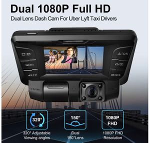 Pruveeo C2 Dash Cam with Infrared Night Vision, Dual 1080p front and inside for Sale in Pleasanton, CA