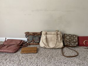 Purse/ back pack/ cluch for Sale in Charlotte, NC