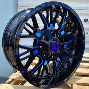 "Brand New 20"" WPXT 20X10 6X139.7 / 6x135 Black Blue Milled Wheels for Sale in Miami, FL"