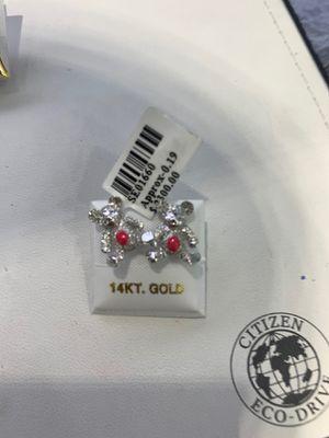 14k Gold Diamond Teddy Bear Earrings for Sale in Los Angeles, CA