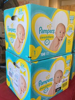 Size 1&2 Pamper Swaddlers for Sale in Charlotte,  NC