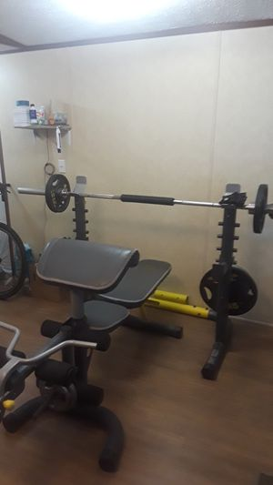 Golds gym weights and bench for Sale in Denver, CO