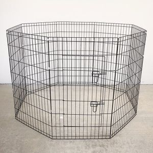 """(NEW) $45 Foldable 42"""" Tall x 24"""" Wide x 8-Panel Pet Playpen Dog Crate Metal Fence Exercise Cage Play Pen for Sale in El Monte, CA"""