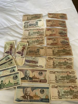 22 Cambodia banknotes for Sale in Quincy, MA