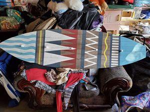 Wooden surfboard coat rack for Sale in Houston, TX