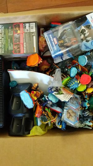 Xbox 360 plus around twenty games and alot of Skylanders and Disney infinity Characters for Sale in Kirkwood, NJ
