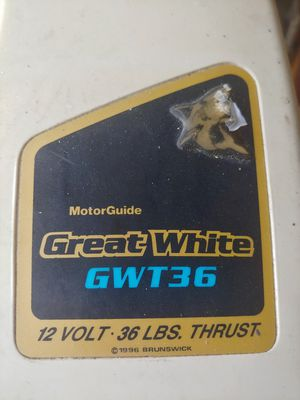 Trolling Motor Great White for Sale in Brandon, FL