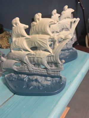 Vintage Cast Iron English Galleon Bookends for Sale in CORP CHRISTI, TX